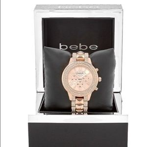 bebe Accessories - Bebe rose gold watch